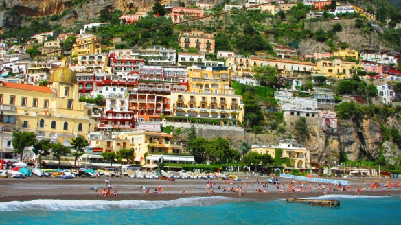 Positano from the ocean