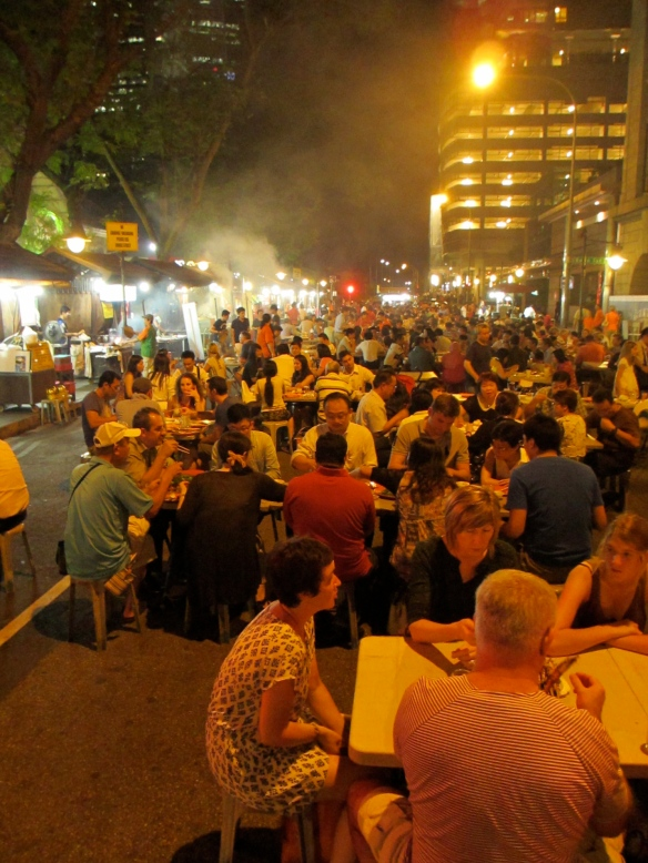 Eating out on the street is so much fun. It gets smoky sometimes but it is worth it.